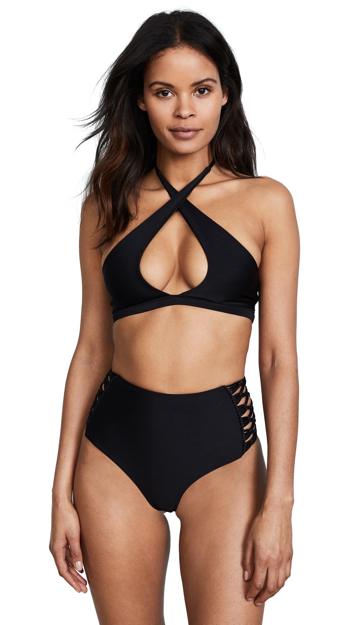 MIKOH Tahaa High Neck Bikini Top
