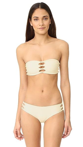 MIKOH Monaco Cutout Knot Detail Bandeau Bikini Top