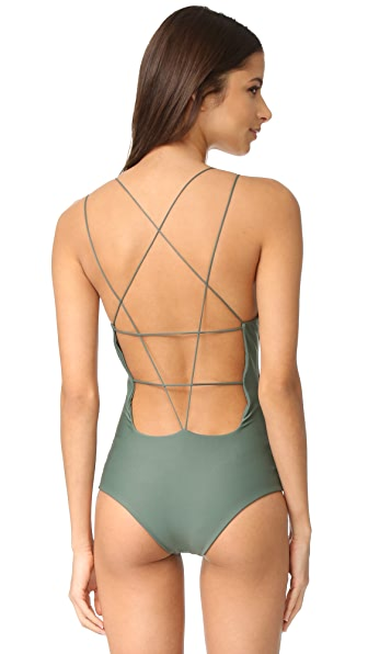 MIKOH Kilauea Swimsuit In Army