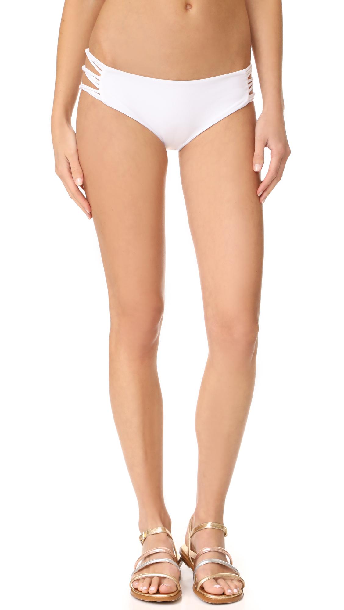 MIKOH Barcelona Skinny String Bikini Bottoms In Foam