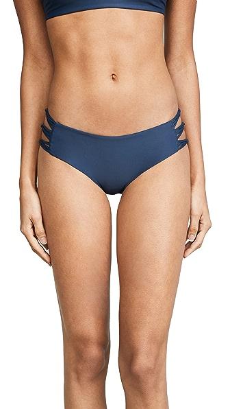 MIKOH Barcelona Bikini Bottoms In Drop Off Blue