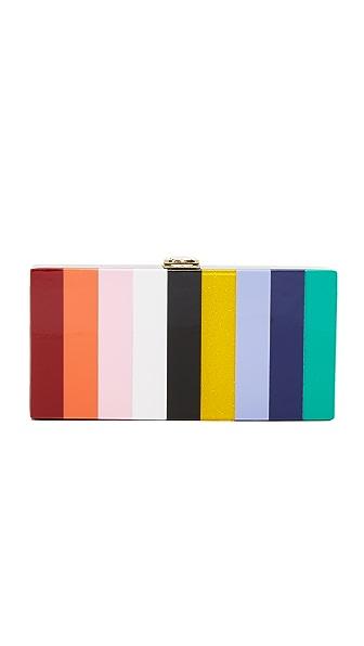 Milly Rainbow Box Clutch