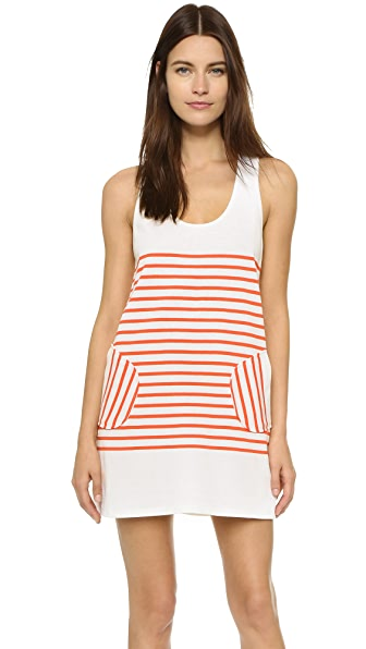 Milly Racer Tank Mini Dress - Poppy