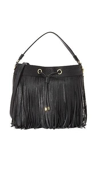 Milly Essex Fringe Hobo Bag - Black