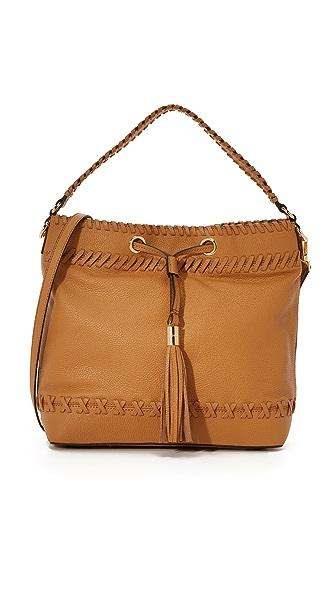 Milly Astor Whipstitch Hobo Bag - Caramel