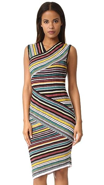 Milly Directional Stripe Sheath Dress