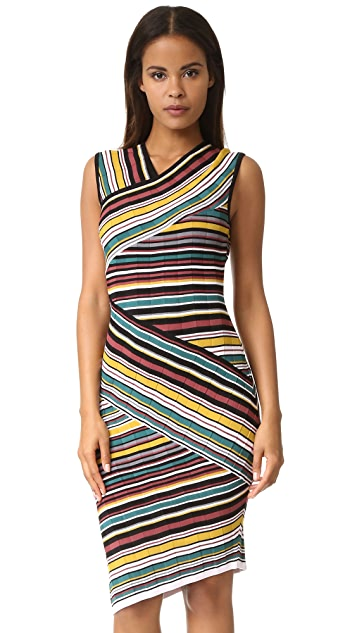 Milly Directional Stripe Sheath Dress