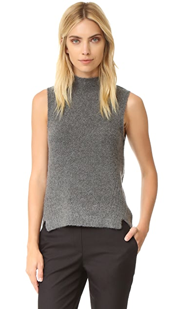 Milly Cashmere Cloud Sleeveless Sweater