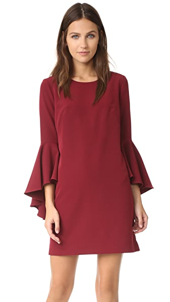 Milly Cady Bell Sleeve Dress - Bordeaux
