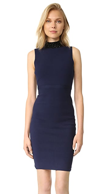 Milly Beaded Collar Sheath Dress
