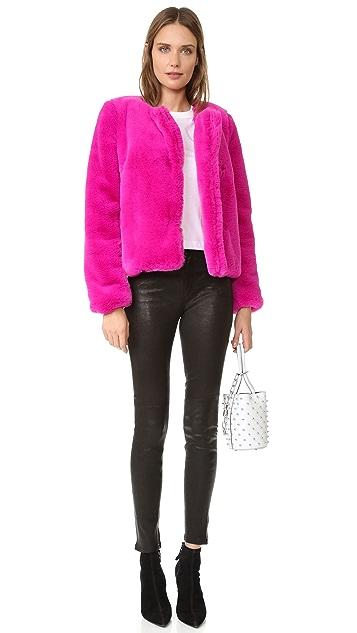 Milly Faux Fur Jacket