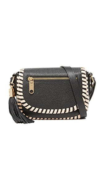 Milly Astor Contrast Whipstitch Small Saddle