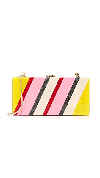 Milly Stripe Box Clutch
