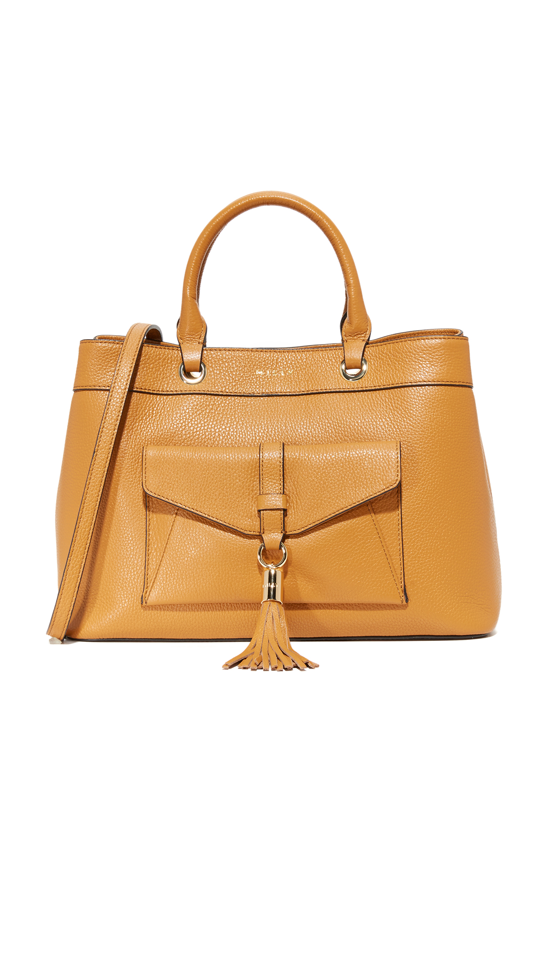 milly female milly astor tote bag caramel
