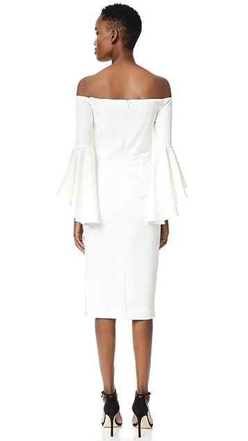 Milly Italian Cady Selena Slit Dress
