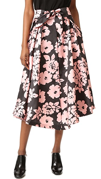 Milly Floral Print Midi Skirt - Blush