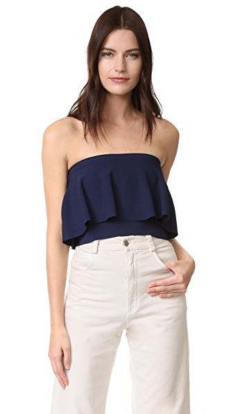 Milly Strapless Flounce Top