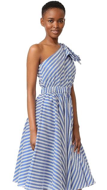Milly Silk Stripe Anna Dress