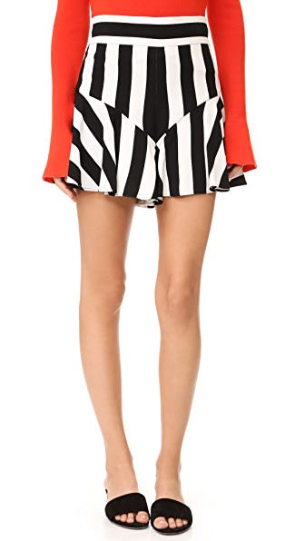 Milly Stripe Print Flutter Shorts