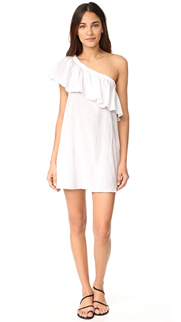 Milly One Shoulder Ruffle Cover Up