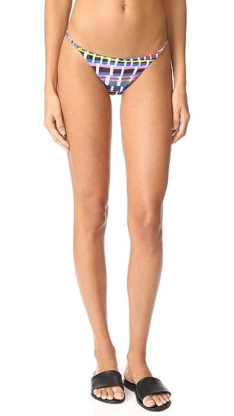 Milly Giraffe Print Elba Bikini Bottoms In Multi