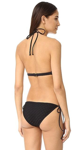 Milly High Neck Halter Bikini Top