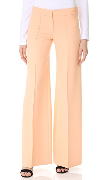Milly Cady Flare Pants In Peach