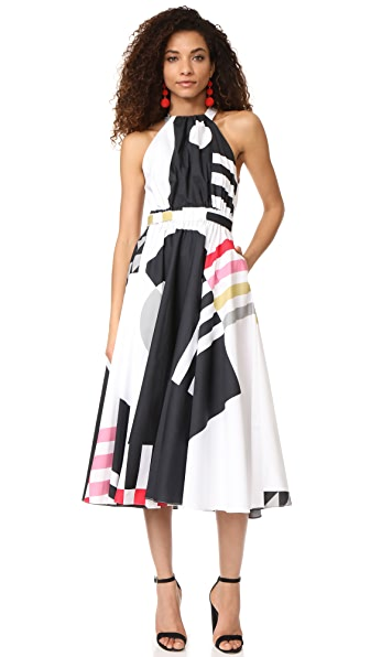 Milly Nautical Abstract Print Lizzy Dress - Multi