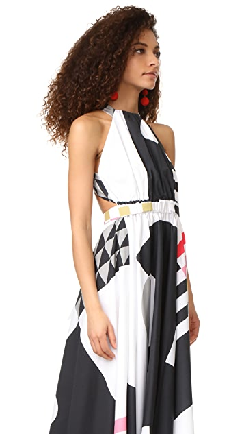 Milly Nautical Abstract Print Lizzy Dress