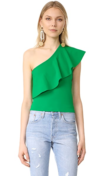 Milly One Shoulder Flounce Top