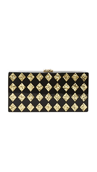 Milly Diamond Box Clutch - Multi
