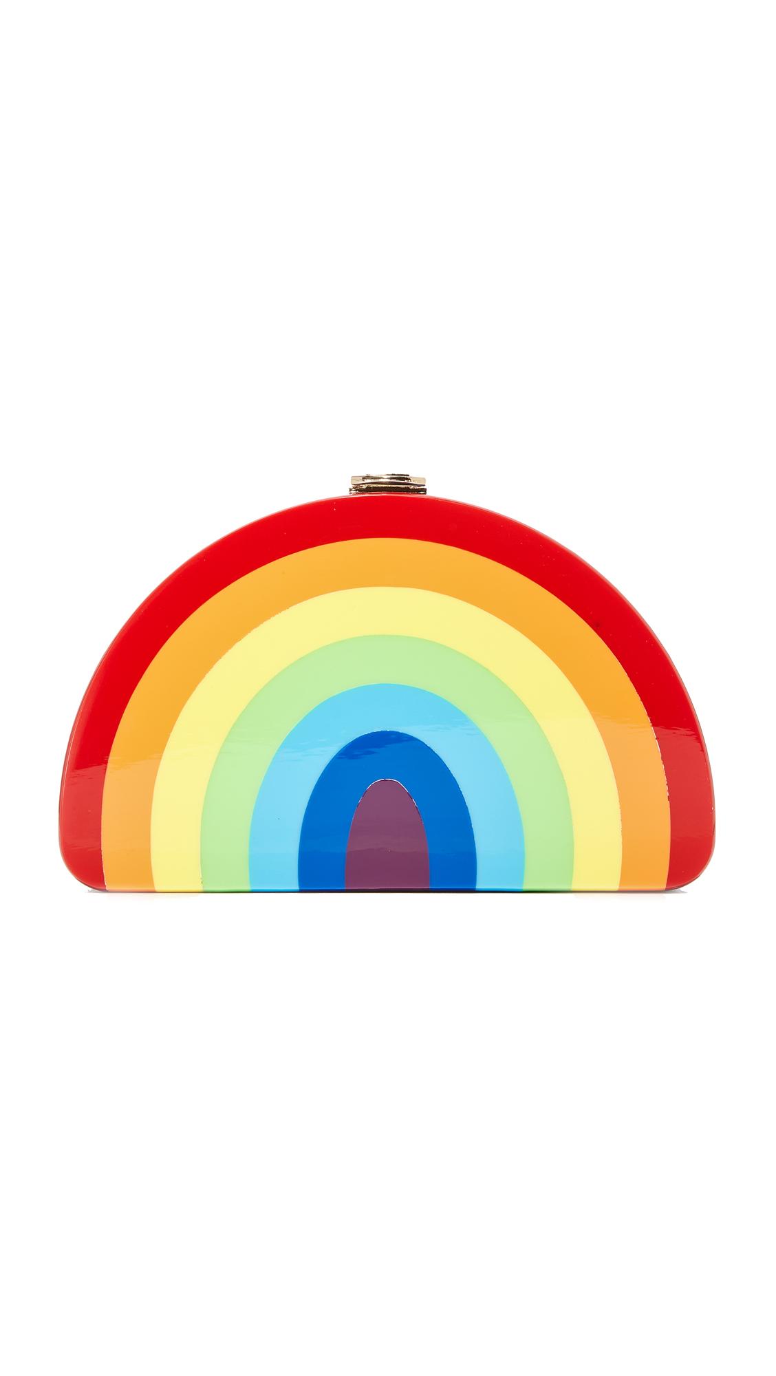 Milly Rainbow Half Moon Clutch