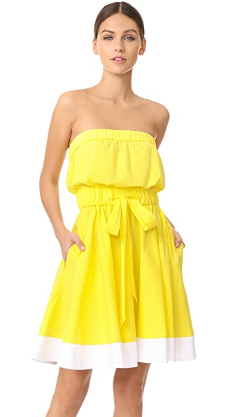 Milly Ariel Dress - Yellow/White