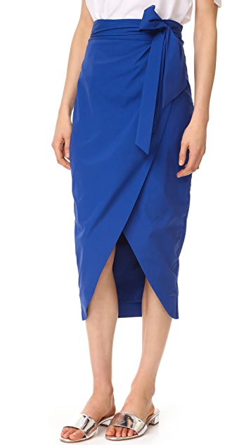 Milly Wrap Pencil Skirt