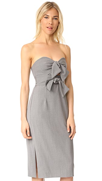 Milly Gabardine Mackenzie Dress - Grey