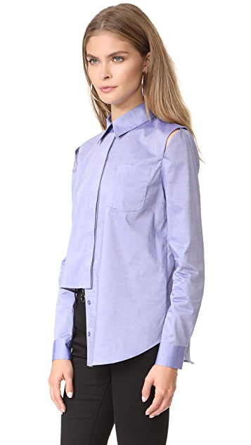 Milly Italian Cross Dye Shirting Cassie Top
