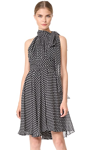 Milly Dot Print Lydia Dress - Black