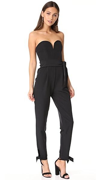 Milly Eva Jumpsuit In Black