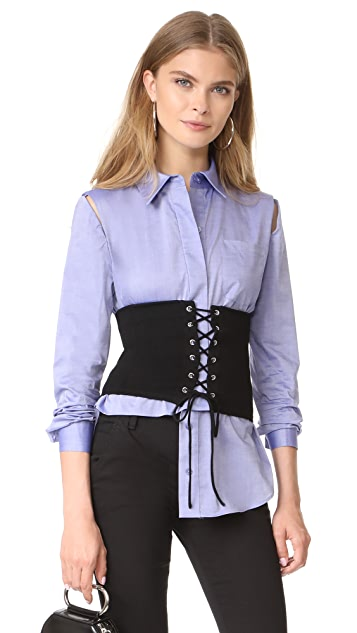 Milly Lace Up Knit Corset