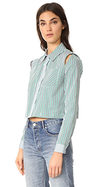 Milly Stripe Fractured Shirting