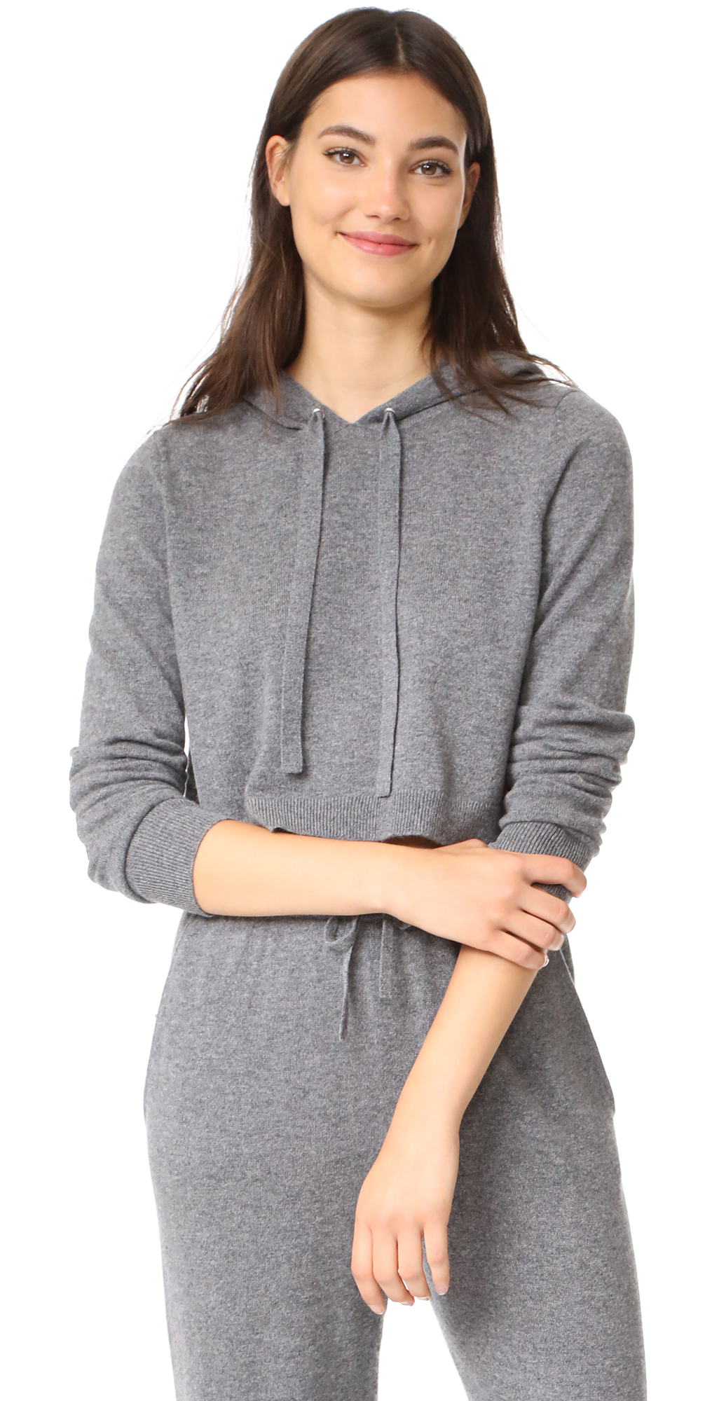 Cashmere Cropped Hoodie Milly