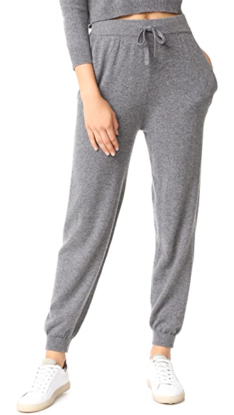 Milly Cashmere Sweatpants - Grey