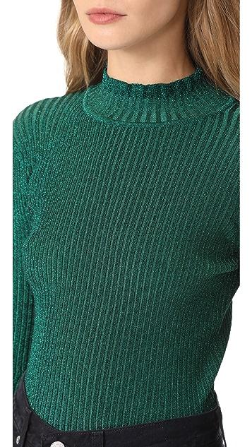 Milly Пуловер в рубчик Stardust