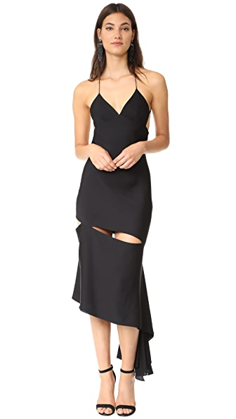 Milly Silk Fractured Bias Slip Dress