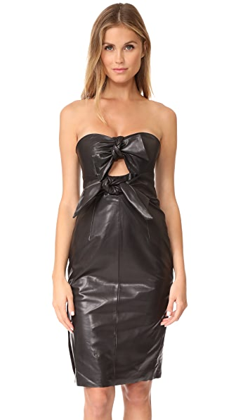 Milly Leather Mackenzie Dress