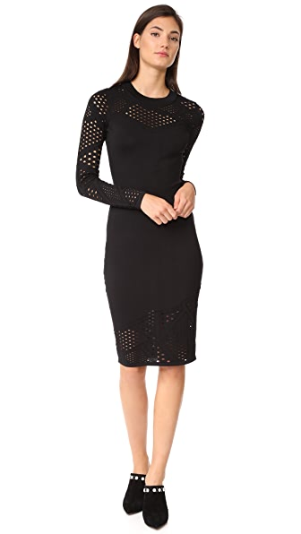 Milly Fractured Dress - Black