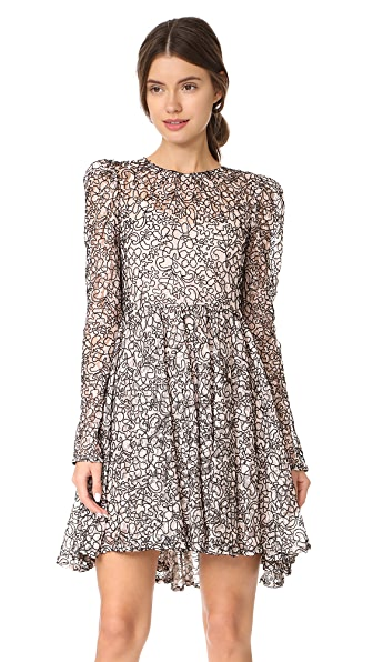 Milly Corded Lace Aria Dress - Ballet