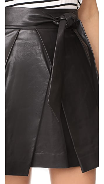 Milly Leather Agata Miniskirt