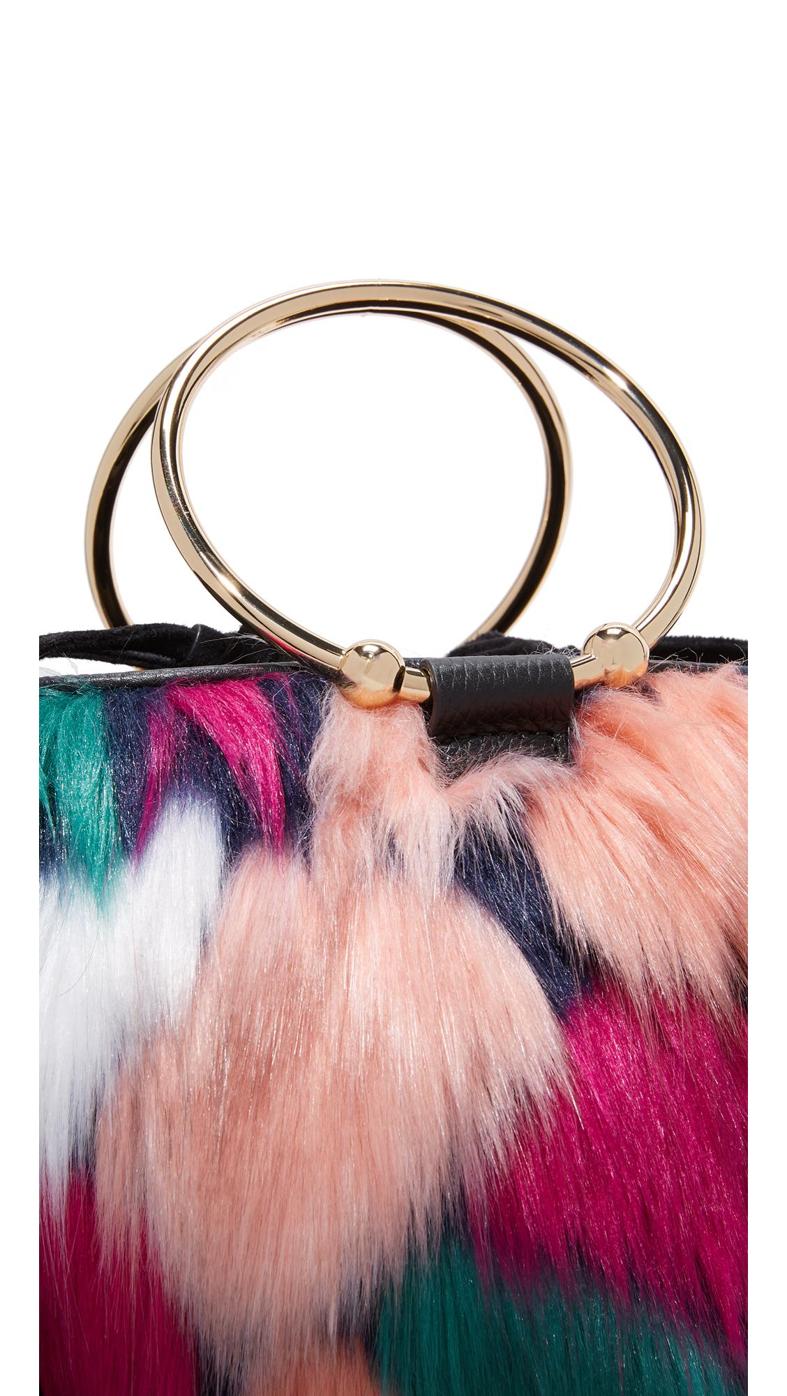 f267761c71a Milly Faux Fur Drawstring Bucket Bag   SHOPBOP