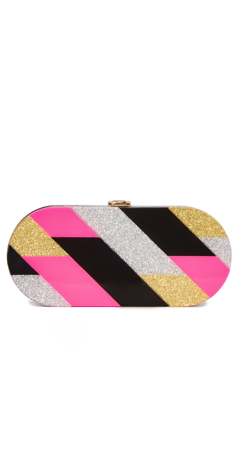 Pink Geo Oval Clutch Milly